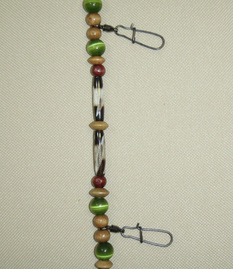 Fly fishing lanyard premium ball bearing swivels with duolock snaps.