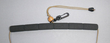 Fly fishing lanyard foam neck pad.
