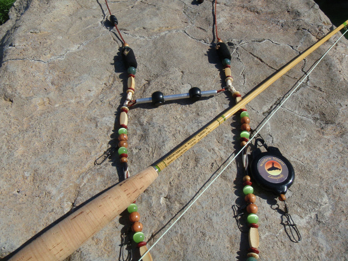Fly fishing lanyard designed to match bamboo rod.